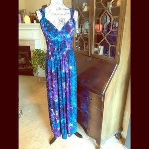Chaps Tie-Dye Maxi Dress Medium
